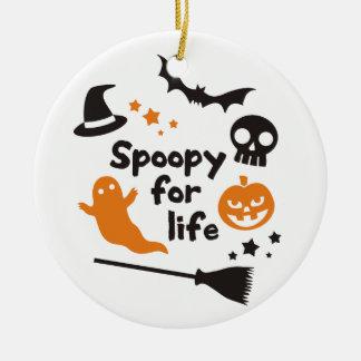 Spoopy For Life Ceramic Ornament