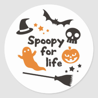 Spoopy For Life Classic Round Sticker
