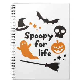 Spoopy For Life Spiral Notebook