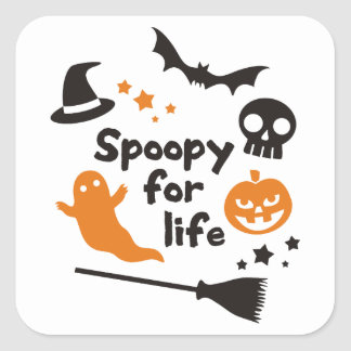 Spoopy For Life Square Sticker