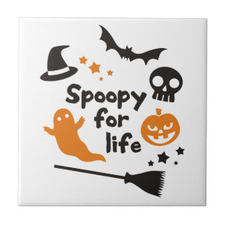 Spoopy For Life Tile