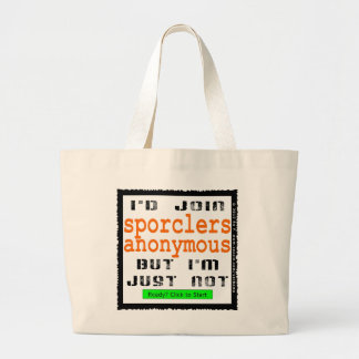 Sporclers Anonymous Jumbo Canvas Tote