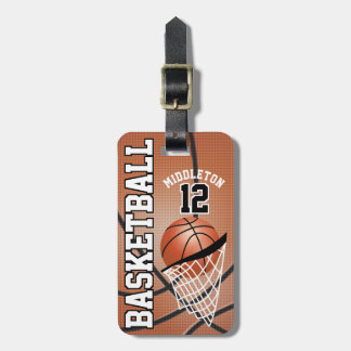 Sport Basketball | DIY Text Luggage Tag