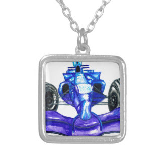 Sport Car Sketch3 Silver Plated Necklace