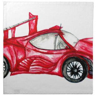 Sport Car Sketch Napkin