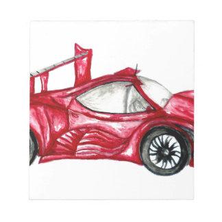 Sport Car Sketch Notepad