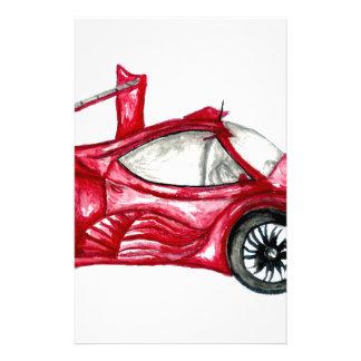 Sport Car Sketch Stationery
