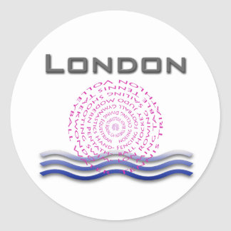Sport London Round Sticker