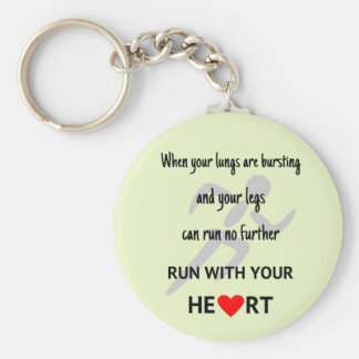 Sport motivational runners quote key ring