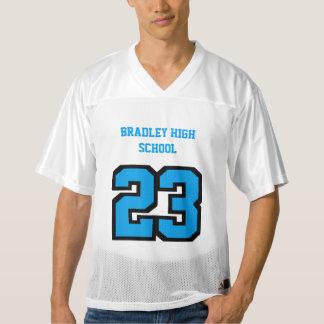 Sport Number in Blue | DIY Text Men's Football Jersey