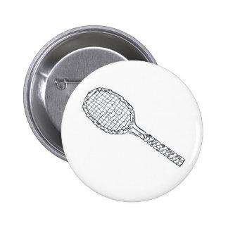 Sport Series - Tennis Racket 6 Cm Round Badge