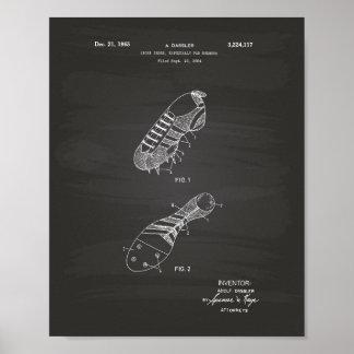 Sport Shoe Runner 1965 Patent Art Chalkboard Poster