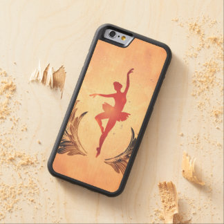 Sport, Silhouette ballet dancer Carved Maple iPhone 6 Bumper Case