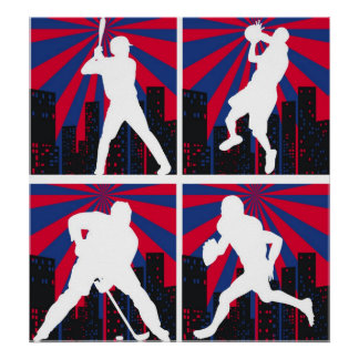 Sport Silhouettes Poster