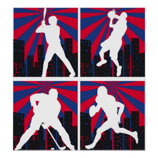 Sport Silhouettes Posters