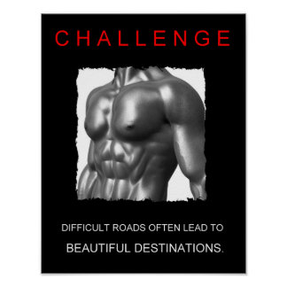 sport success motivational challenge quote poster