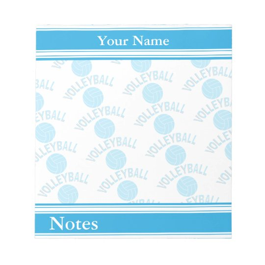 Sport Volleyball   Baby Blue   DIY Name Notepad