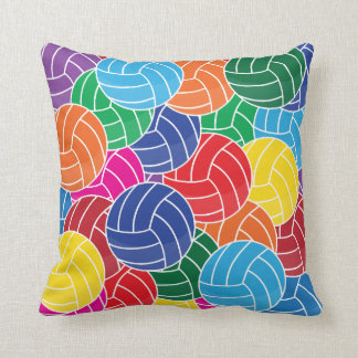 Sport Volleyball Collage   Colorful Cushion