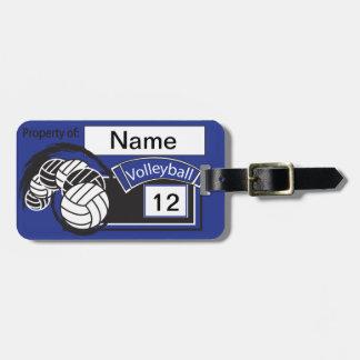 Sport Volleyball | DIY Text | Dark Blue Luggage Tag