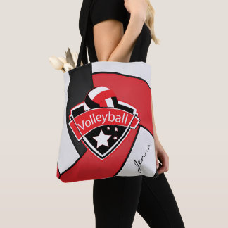 Sport Volleyball   DIY Text - Red Tote Bag