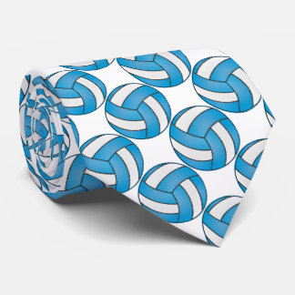 Sport White and Baby Blue Volleyball Tie