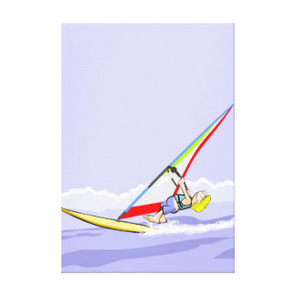Sport Windsurf holding the candle Canvas Print