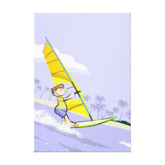 Sport Windsurf leaving to open sea Canvas Print