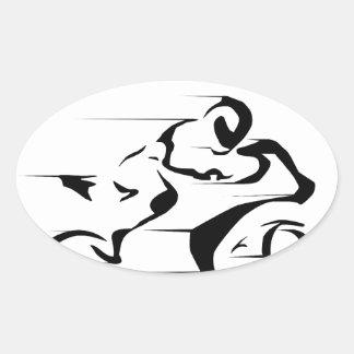 Sportbike rider oval sticker