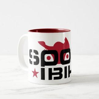 Sportbike rider Two-Tone coffee mug