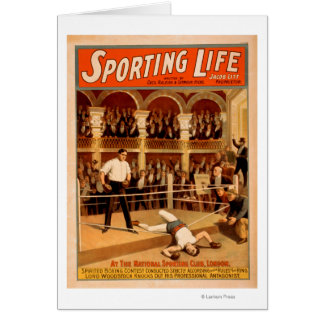 """Sporting Life"" Boxing Theatrical Play Poster Card"