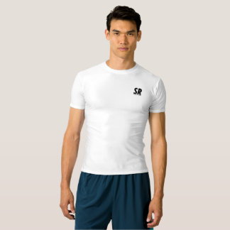 SPORTREEL WHITE PERFORMANCE T-SHIRT WITH LOGO