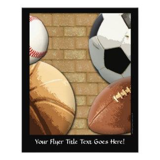 Sports Al-Star, Basketball/Soccer/Football 11.5 Cm X 14 Cm Flyer