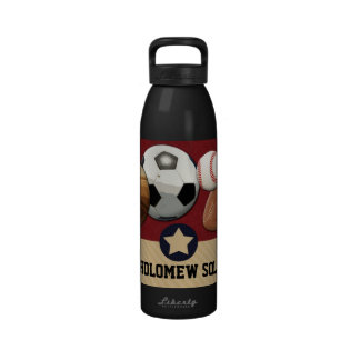 Sports All-Star Personalized Name Hydration Water Drinking Bottle
