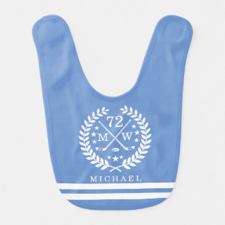 Sports All STAR Personalized Name Light Blue Bib