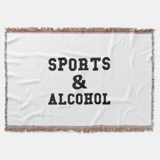Sports And Alcohol Throw Blanket