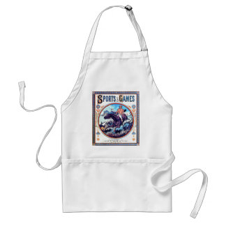 Sports and Games Hunting Vintage Book Cover Standard Apron