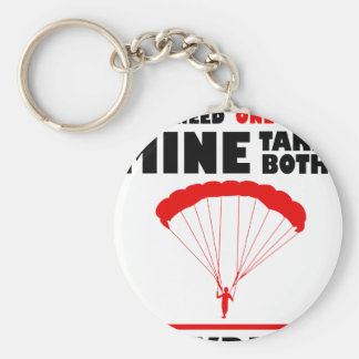 sports and skydive, Mine takes both Basic Round Button Key Ring