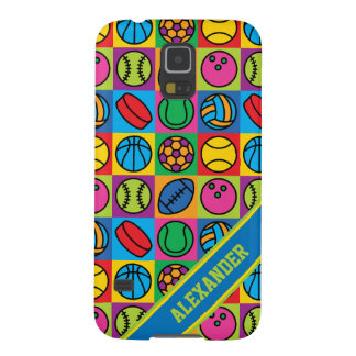 Sports Ball Icons Galaxy S5 Cases
