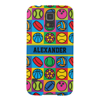 Sports Ball Icons Galaxy S5 Cover