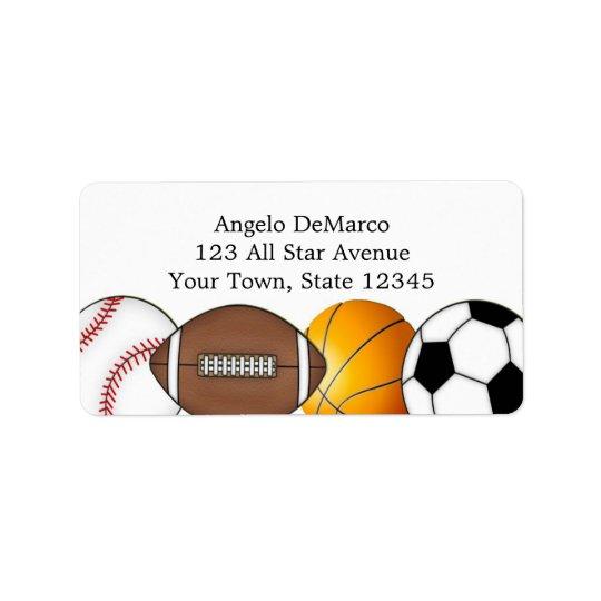 Sports Balls Address Label