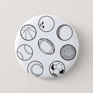 Sports Balls Set 6 Cm Round Badge