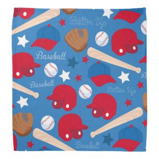 SPORTS Baseball Glove Bat Fun Colorful Pattern Bandana