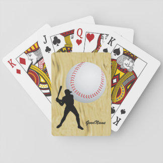 Sports, Baseball, personalise with name Playing Cards