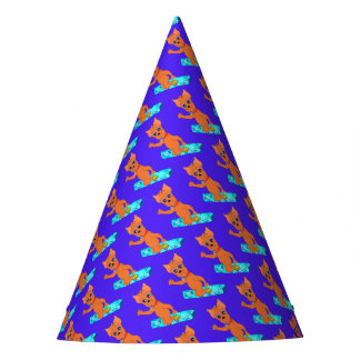 Sports Birthday Party Items - Happy Snowboarding Party Hat