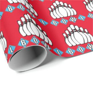 Sports Bowling pin pattern wrapping paper