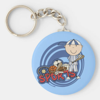 Sports Boy - Baseball Tshirts and Gifts Basic Round Button Key Ring
