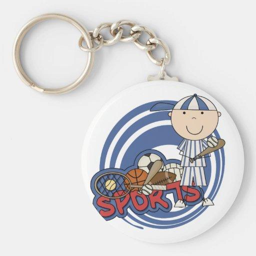 Sports Boy - Baseball Tshirts and Gifts Keychain