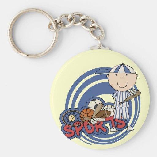 Sports Boy - Baseball Tshirts and Gifts Keychains