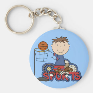 Sports Boy Basketball Tshirts and Gifts Keychains