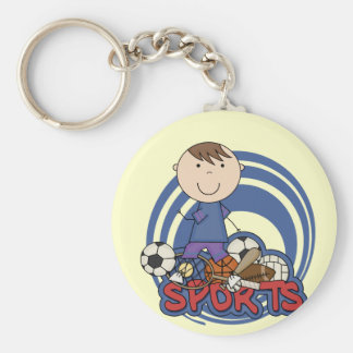 Sports Boy Soccer T-shirts and Gifts Basic Round Button Key Ring